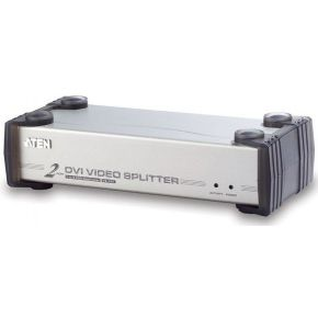 Aten 2 Port DVI Video Splitter at 1600x1200 DDC2B-Cascadable-DVI-D & DV (VS162)