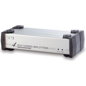 Aten 4 Port DVI Video Splitter at 1600x1200 DDC2B-Cascadable-DVI-D & DV (VS164)